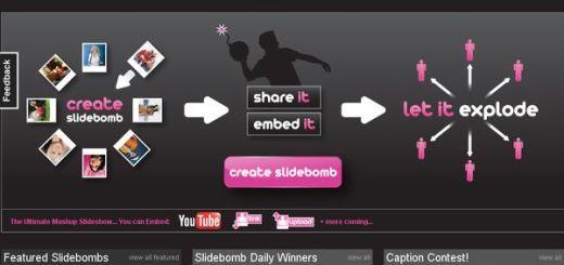 SlideBomb, Plataforma web para crear y compartir presentaciones