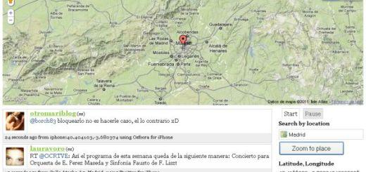 Twitter Nano, lee tweets geolocalizados