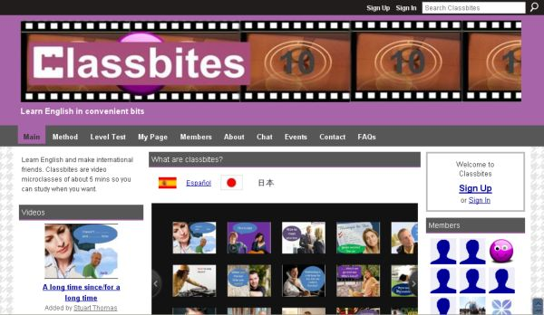 Classbites, microclases en vídeo para aprender inglés