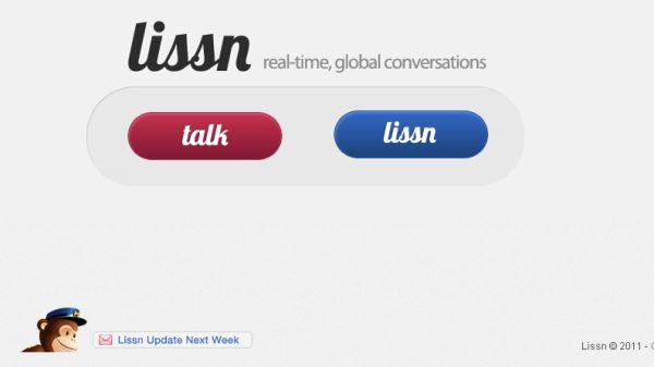 Lissn Lissn, chat de texto con usuarios aleatorios de todo el mundo