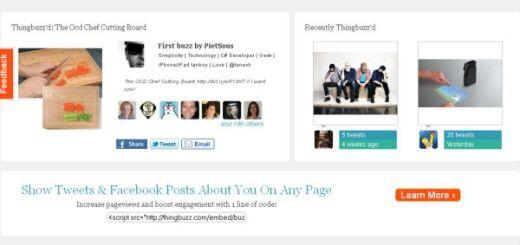 Thingbuzz, conoce los productos más comentados en Twitter