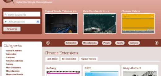 Chrome Themes, temas gratuitos para el navegador de Google