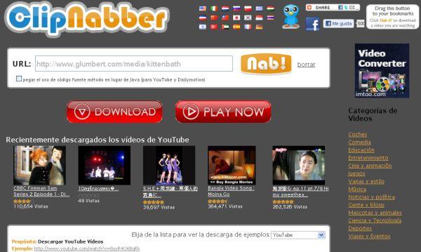 ClipNabber, la mejor opción para descargar vídeos en internet
