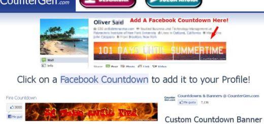 CounterGen, crea banners con cuenta atras para tu perfil de Facebook