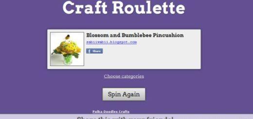 Craft Roulette, ideas aleatorias para crear arte y manualidades