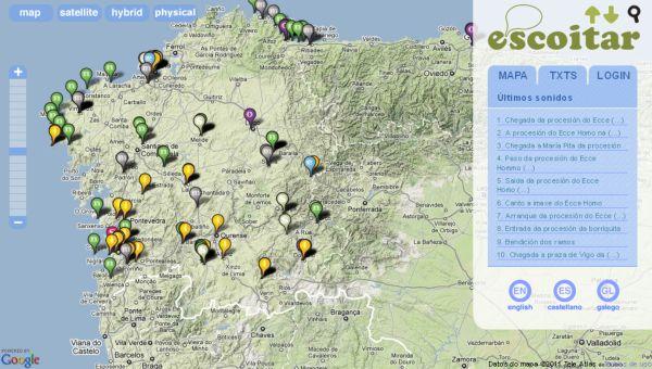 escoitar Escoitar, un mapa para descubrir los sonidos de Galicia