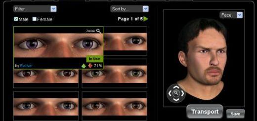 Evolver, crea impresionantes avatares en 3D