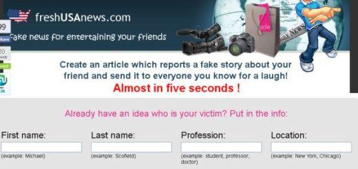 FreshUSAnews, crea noticias falsas para bromear con los amigos