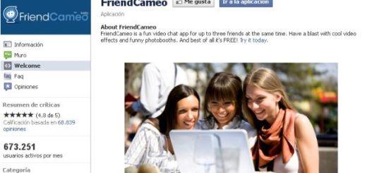 FriendCameo, aplicación para videochat en Facebook