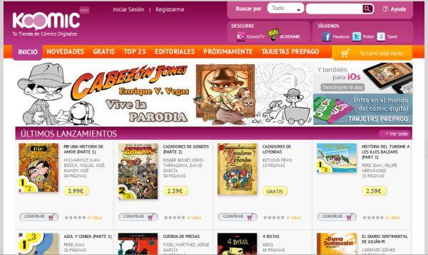 Koomic, tienda online de comics digitales