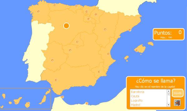 Mapas flash interactivos para aprender geografía