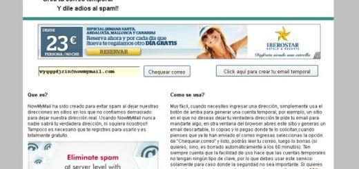 NowMyMail, otra opción para crear un correo temporal