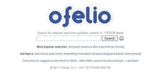 Ofelio, buscador de contenidos en canales feed