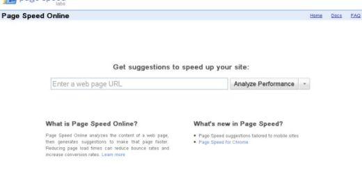 Page Speed Online, mide la velocidad de carga de tu web y recibe sugerencias para mejorar