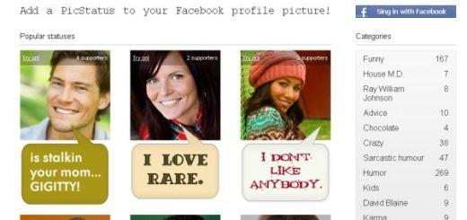 Picstatus, agrega un bocadillo de texto a tu foto de Facebook