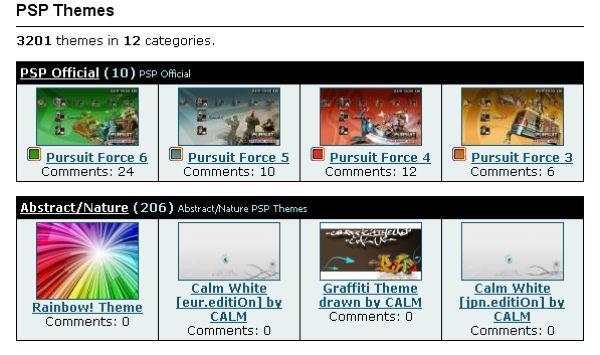 PSP Themes, directorio de temas gratuitos para PSP