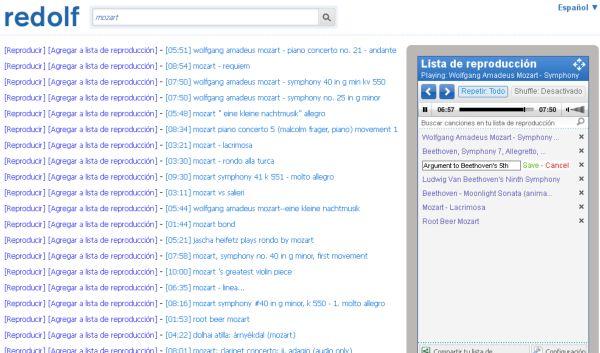 Redolf, otra opción para escuchar música online