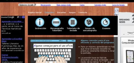 Sense-Lang, curso online y gratuito de mecanografía