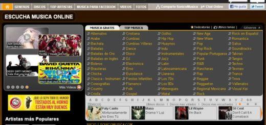 SonicoMusica, escucha online la música del momento