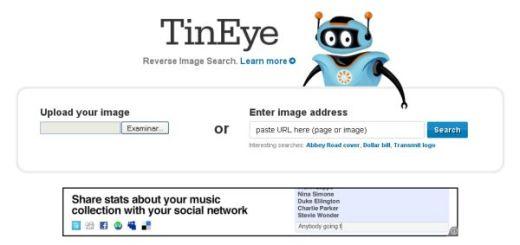 TinEye, buscador de imágenes similares en internet