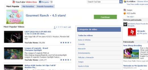 YouTube Video Box, todos los vídeos de YouTube en Facebook