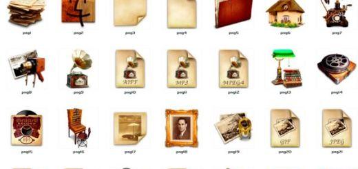 Antique Icons, una bonita colección de iconos antiguos