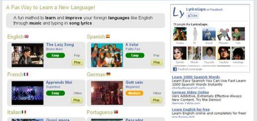 Lyricsgaps, aprende idiomas con ayuda de la música