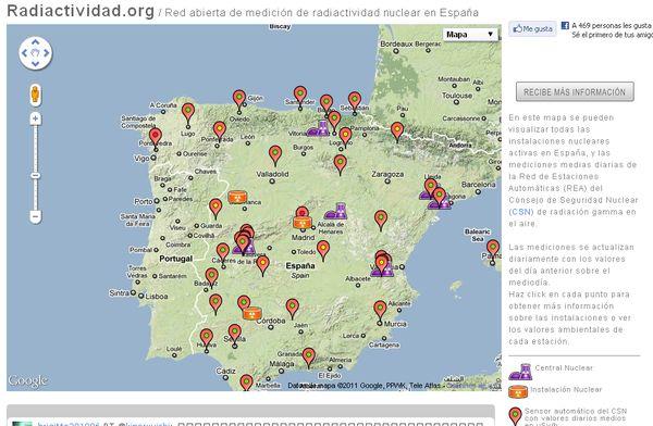 Radiactividad Mapa De Centrales Nucleares En Espa 241 A