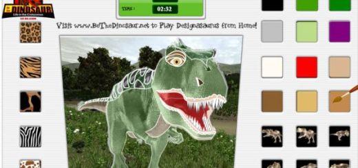 Designosaurus, web para que los pequeños coloreen dinosaurios