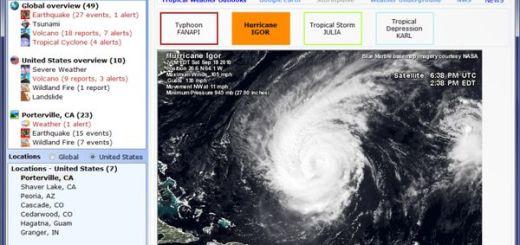 Earth Alerts, un software para recibir alertas de desastres naturales