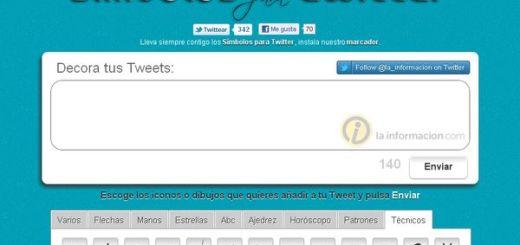 Símbolos para Twitter, decora tus tweets incluyendo símbolos