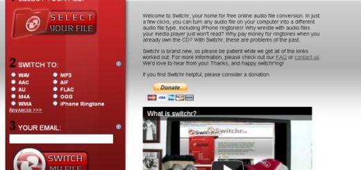 Switchr, conversor de audio online y gratuito