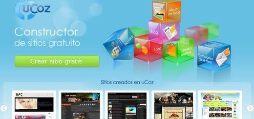 uCoz, crea excelentes sitios web totalmente gratis