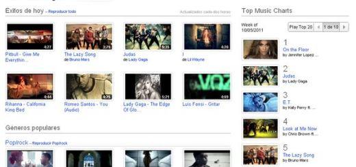 YouTube Music, los éxitos musicales de YouTube