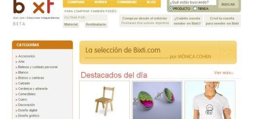 Bixti, compra y venta de creaciones artesanales independientes