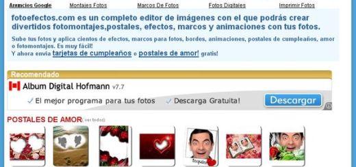 FotoEfectos, otra opción online para aplicar efectos y hacer montajes con nuestras fotos