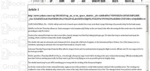 GrabMyBooks, crea libros ePub con el contenido de blogs y webs (Firefox)