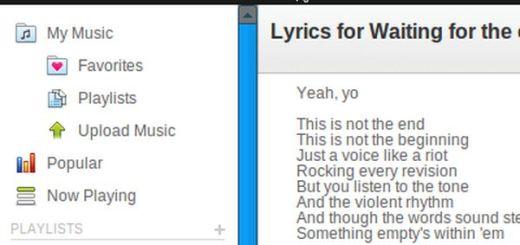 Grooveshark-Lyrics