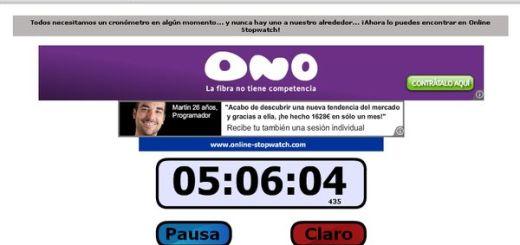 Online-Stopwatch, cronómetro online con cuenta progresiva o regresiva