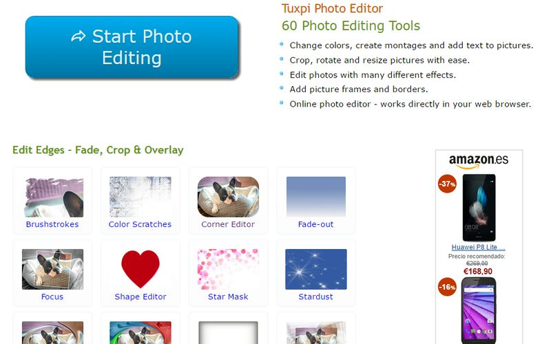 Tuxpi: 60 herramientas gratuitas para editar imágenes online