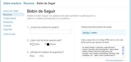 Crea un botón con contador para ganar seguidores en Twitter