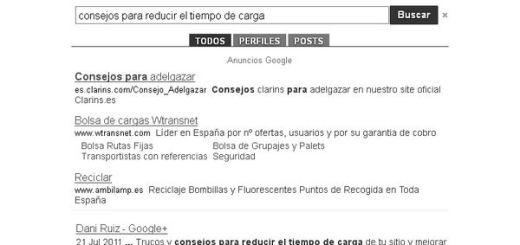 Buscador Google Plus, buscador de contenidos en publicaciones de Google+