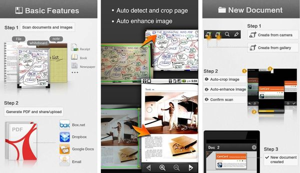 CamScanner, utiliza tu Android para escanear documentos