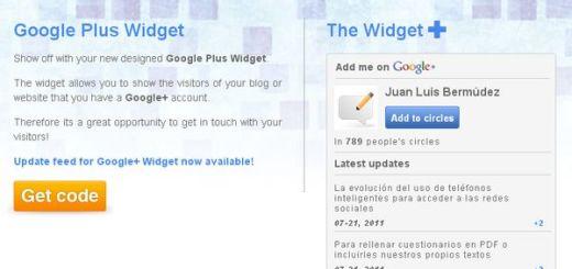Google Plus Widget, integra tus publicaciones de Google+ en tu blog