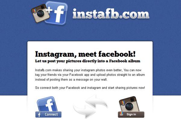 InstaFB, copia tus fotos de Instagram a Facebook