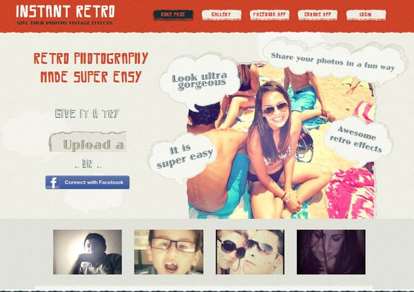 InstantRetro, una sencilla forma de aplicar efecto retro a tus fotos