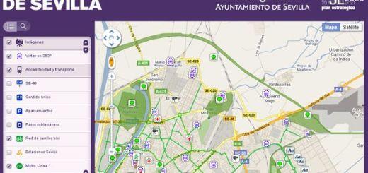 Mapa de Sevilla con servicios, edificios públicos y más