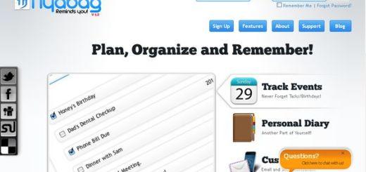 Nyabag: gestor, planificador y recordatorio de tareas online