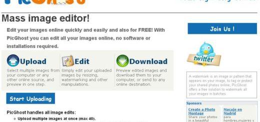 PicGhost, edición gratuita y online de imágenes por lotes