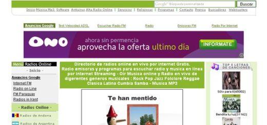 Radios Online FM, directorio de radios para escuchar online